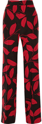 Marni Printed Silk Wide-leg Pants