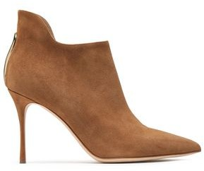 Sergio Rossi Cutout Suede Ankle Boots
