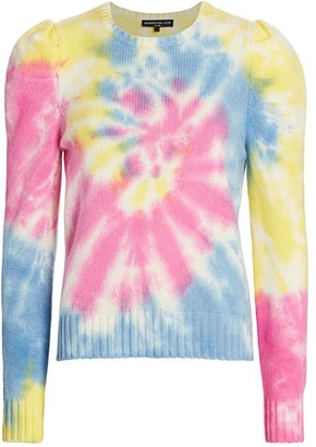 Generation Love Tyrell Tie-Dye Puff-Sleeve Sweater