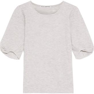Autumn Cashmere Twisted Melange Cashmere Top