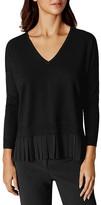 Karen Millen Georgette Pleated-Hem Sweater