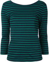 CITYSHOP striped three-quarter sleeve top - women - Cotton - One Size