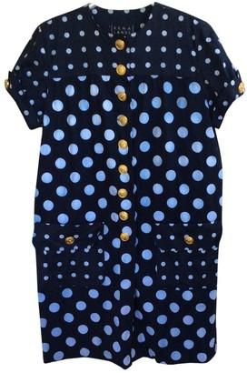 Rena Lange Blue Cotton Dress for Women Vintage