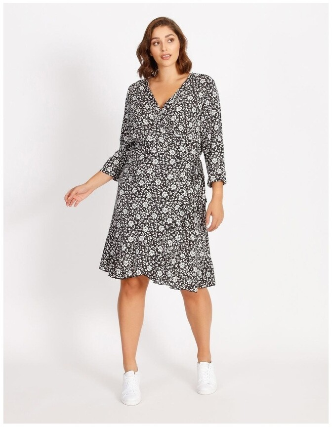 Thumbnail for your product : Only Carlolli 3/4 Short Wrap Dress