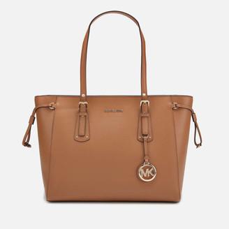 MICHAEL Michael Kors Women's Voyager Medium Top Zip Tote Bag - Acorn