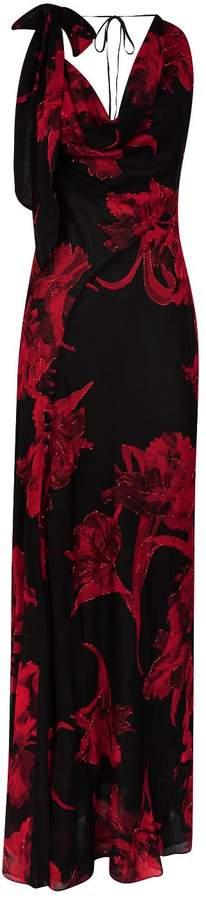 Roberto Cavalli Beaded Floral Dress