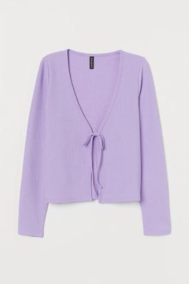 H&M Ribbed Cardigan - Purple