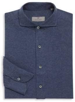 Canali Houndstooth Cotton Dress Shirt