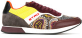 Etro contrast lace up trainers - men - Leather/Polyester/Calf Suede/rubber - 41