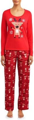 Toast & Jammies Matching Family Christmas Pajamas Womens and Womens Plus 2-Piece Reindeer Set