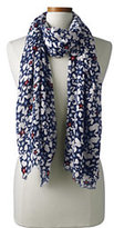 Classic Women's Star Print Scarf-Lime Breeze Dot
