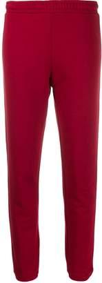 Love Moschino logo print trousers