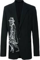 Yohji Yamamoto printed motif blazer
