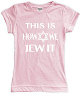 Urban Smalls Light Pink 'This Is How We Jew It' Fitted Tee - Toddler & Girls