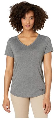 Royal Robbins Round Trip Drirelease(r) Short Sleeve Top (Asphalt Heather) Women's Clothing