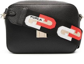 Furla Sleek grained-effect crossbody bag