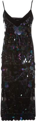 Nissa Elegant Slip Dress With Sequin Detail