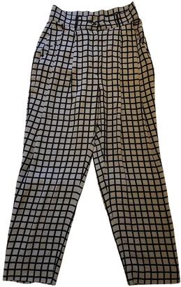 Willow Beige Silk Trousers for Women