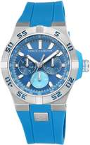 Vince Camuto Men's VC/1010LBSV The Master Multi-Function Dial Silicone Strap Watch