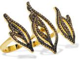 Noir Sparks Gold-Tone Crystal Ring