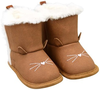 Carter's Baby Girl Cat Face Bootie Crib Shoes