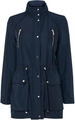 Wallis Navy Funnel Neck Coat