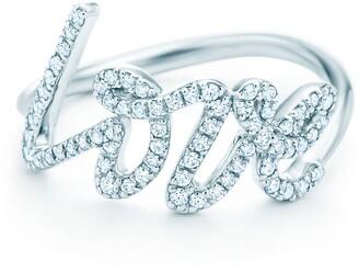 Tiffany & Co. Paloma's Graffiti love ring in 18k white gold with diamonds, small