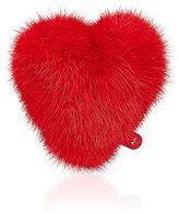Anya Hindmarch Women's Mink Fur Heart Sticker