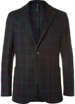 Incotex - Slim-fit Checked Crinkled Wool-blend Blazer