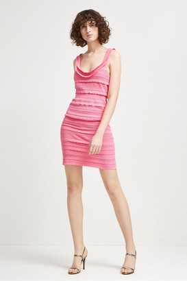 French Connection Scallop Frill Strappy Fitted Dress