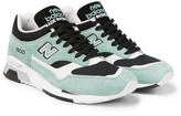 New Balance 1500 Suede, Leather And Mesh Sneakers - Green