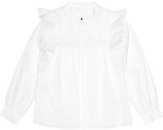 Chloé Kids Victorian embroidered cotton blouse