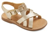 Cat & Jack Toddler Girls' Perrin Minimalist Cross Band Slide Sandals Cat & Jack - Gold