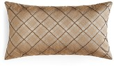 "Hudson Park Luxe Piazza Beaded Plaid Decorative Pillow, 12"" x 22"" - 100% Exclusive"