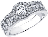 Lafonn Platinum Plated Sterling Silver Micro Pave Simulated Diamond Wedding Band