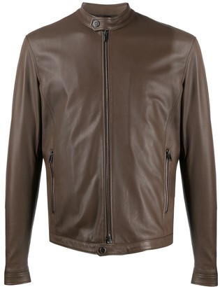 Tagliatore Zipped Biker Jacket