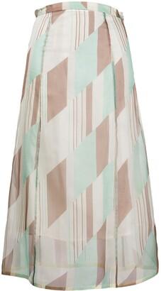 Jil Sander geometric print A-line skirt