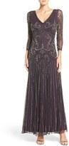 Pisarro Nights Women's Embellished Mesh Drop Waist Dress
