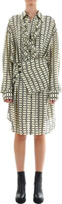 Plan C Silk Dress Geometric Print