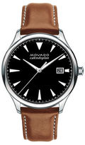 Movado Heritage Series Calendopan Stainless Steel Leather Strap Watch
