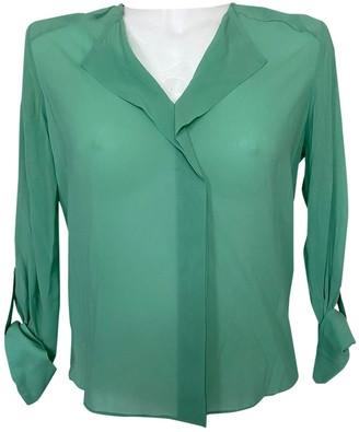 Alice + Olivia Green Silk Top for Women