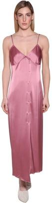 Nanushka Ancens Satin Midi Dress
