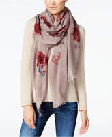 Steve Madden Flowing Flowers Wrap and Scarf in One