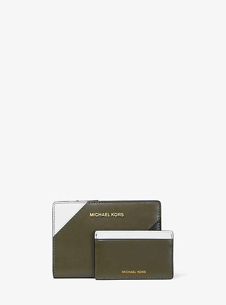 Michael Kors Medium Tri-Color Leather Slim Wallet
