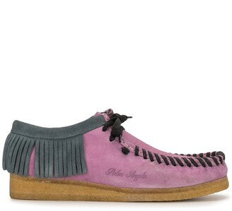 Palm Angels Wallabee fringed lace-up shoes