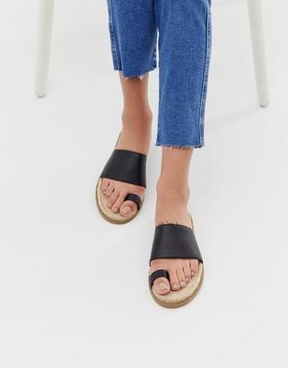 Asos DESIGN Jega toe post espadrille sandals