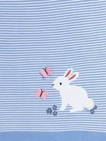John Lewis & Partners Leckford Bunny Applique Pram Blanket, 100 x 75cm, Blue