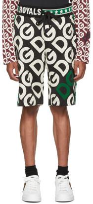 Dolce & Gabbana Black Royals Shorts