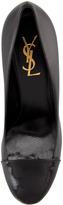 Saint Laurent Tribute Two Patent-Capped Leather Platform Pump, Black