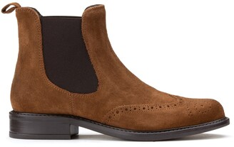 Jonak Trim Chelsea Ankle Boots in Suede